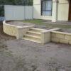 Limestone Block Reconstituted Garden Wall & Steps