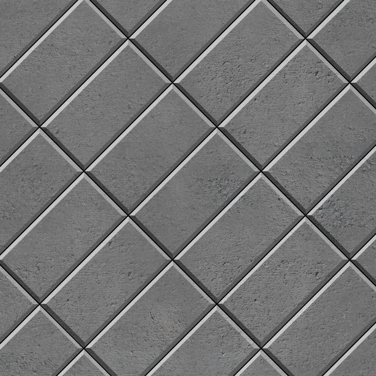 45 Stack Bond brick paver
