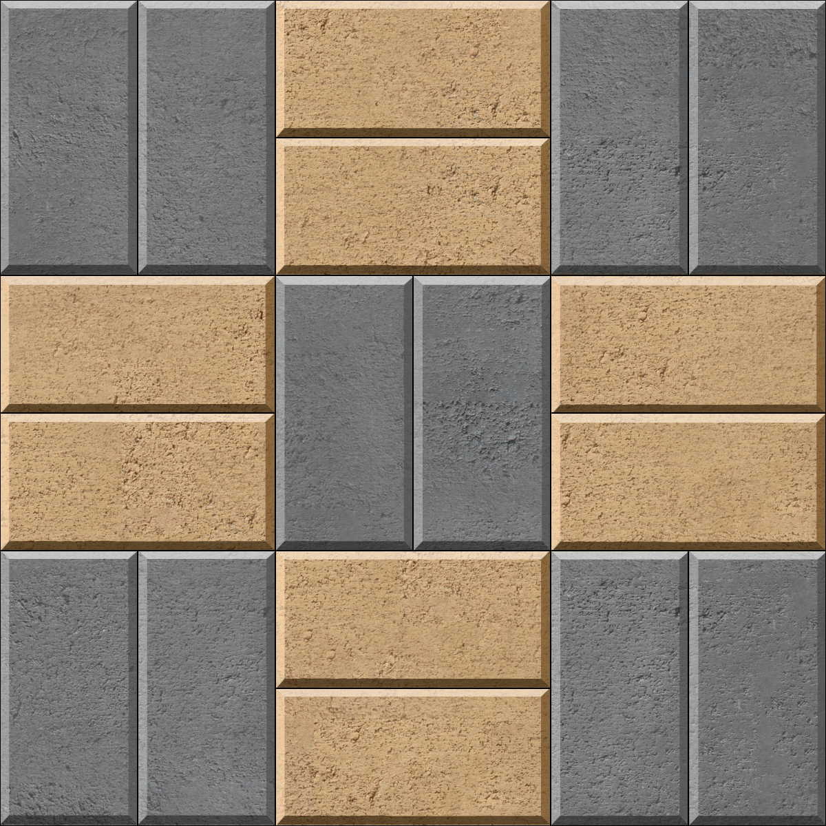 Basketweave Contrast brick paver