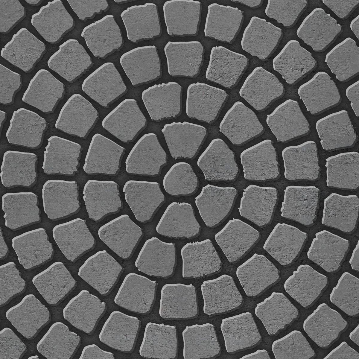 Circlular paving pattern